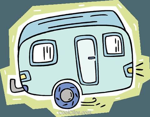 Camping Trailer Royalty Free Vector Clip Art Illustration