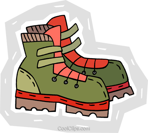 Hiking Boots Royalty Free Vector Clip Art Illustration Vc009015