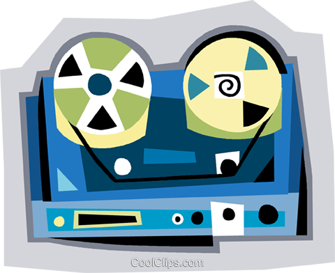 tape recorder Royalty Free Vector Clip Art illustration vc009022