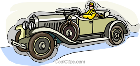 antique automobile Royalty Free Vector Clip Art illustration vc009046
