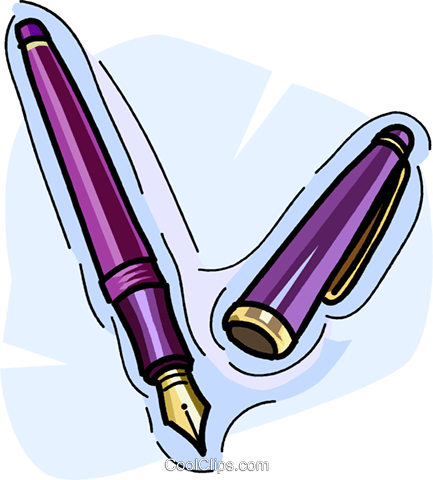 fountain pen Royalty Free Vector Clip Art illustration vc009050