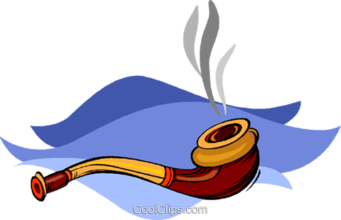 smoker's pipe Royalty Free Vector Clip Art illustration vc009056