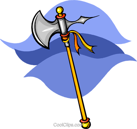 axe Royalty Free Vector Clip Art illustration vc009081