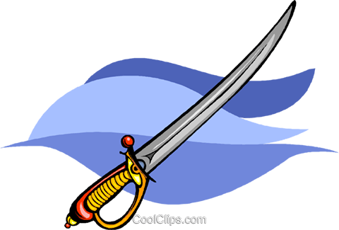 sword Royalty Free Vector Clip Art illustration vc009083