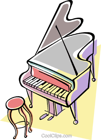 grand piano Royalty Free Vector Clip Art illustration vc009112