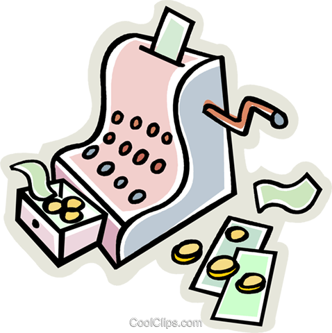 cash register Royalty Free Vector Clip Art illustration vc009120