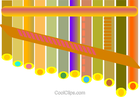 pan flute Royalty Free Vector Clip Art illustration vc009150