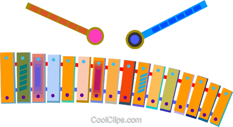 xylophone Royalty Free Vector Clip Art illustration vc009162