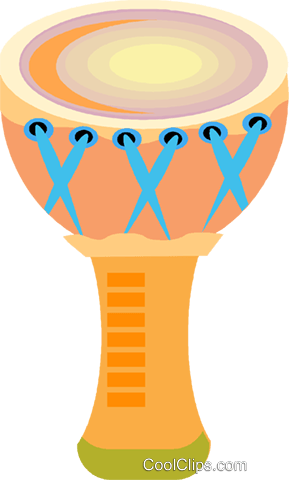 bongo drum Royalty Free Vector Clip Art illustration vc009176