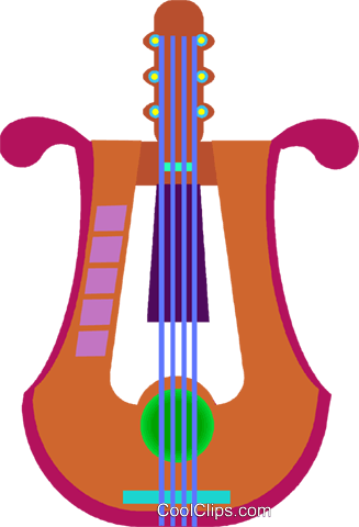 harp Royalty Free Vector Clip Art illustration vc009180