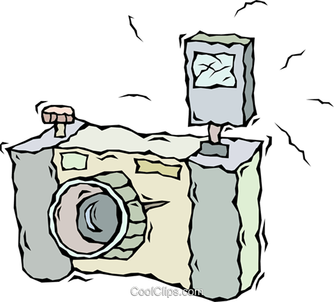 camera Royalty Free Vector Clip Art illustration vc009200