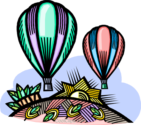 hot air balloons Royalty Free Vector Clip Art illustration vc009231