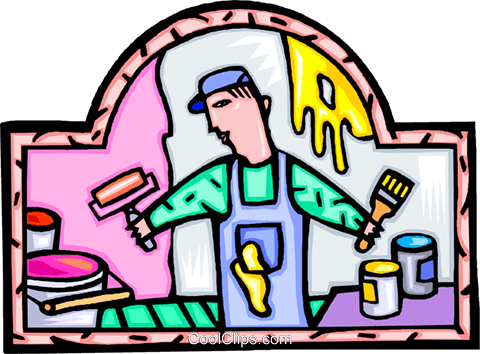 painter painting Royalty Free Vector Clip Art illustration vc009241
