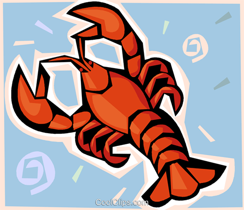lobster Royalty Free Vector Clip Art illustration vc009301