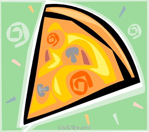 pizza Royalty Free Vector Clip Art illustration vc009308