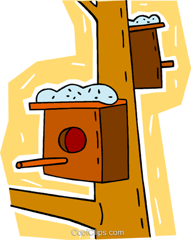 bird houses Royalty Free Vector Clip Art illustration vc009353