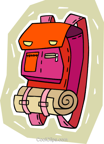 back pack Royalty Free Vector Clip Art illustration vc009358