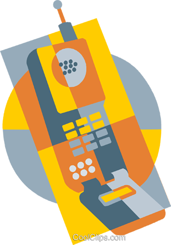 cellular phone Royalty Free Vector Clip Art illustration vc009396