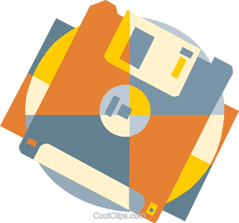 computer diskette Royalty Free Vector Clip Art illustration vc009399