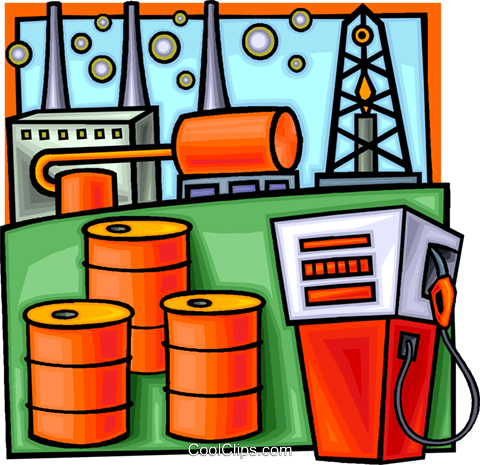 petroleum and gas refining Royalty Free Vector Clip Art illustration vc009409