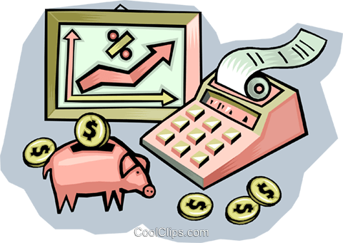 financial growth Royalty Free Vector Clip Art illustration vc009416