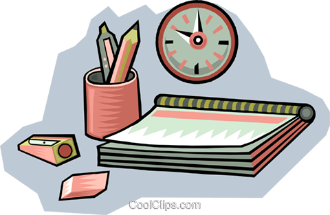 notebook with pencil Royalty Free Vector Clip Art illustration vc009417
