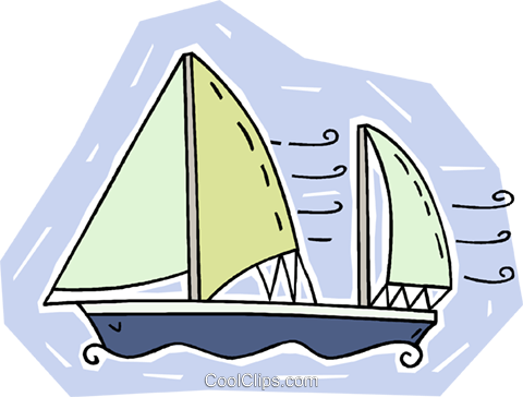 sailboat Royalty Free Vector Clip Art illustration vc009440