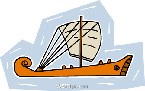 sailing vessel Royalty Free Vector Clip Art illustration vc009461