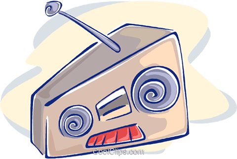 radio Royalty Free Vector Clip Art illustration vc009564