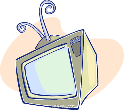 television Royalty Free Vector Clip Art illustration vc009574