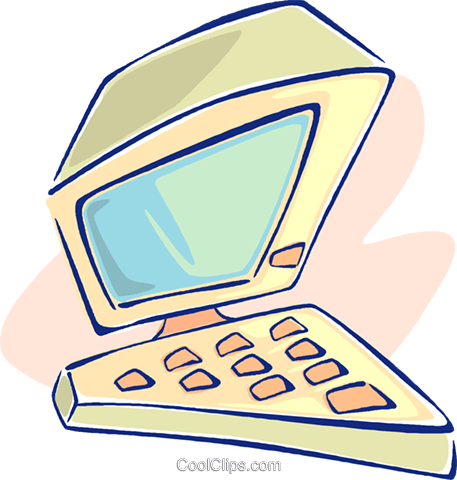 computer workstation, computer terminal Royalty Free Vector Clip Art illustration vc009582