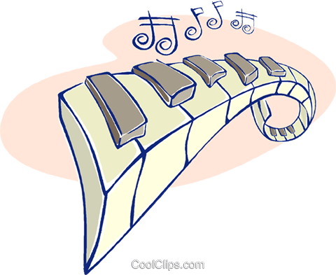 piano keys Royalty Free Vector Clip Art illustration vc009597