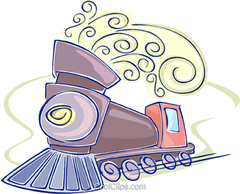 steam locomotive Royalty Free Vector Clip Art illustration vc009615