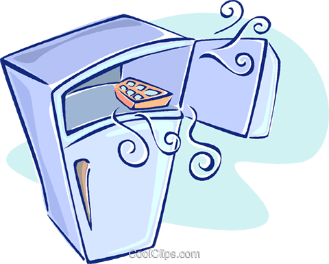 fridge Royalty Free Vector Clip Art illustration vc009655