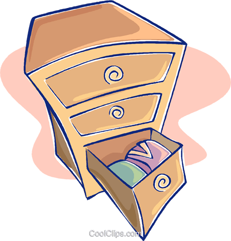 chest of drawers Royalty Free Vector Clip Art illustration vc009661