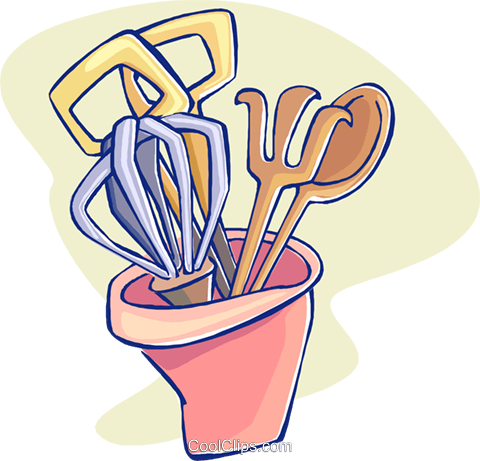 kitchen tools Royalty Free Vector Clip Art illustration ...