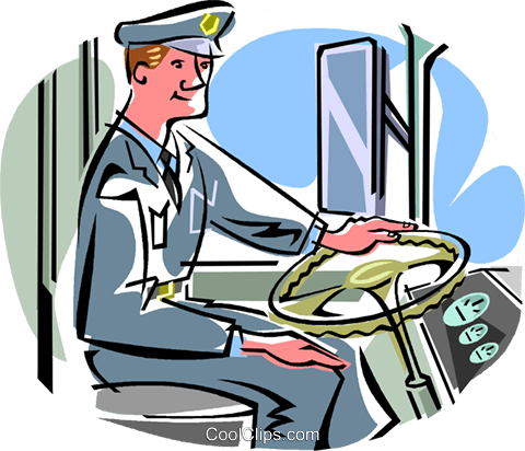 bus driver Royalty Free Vector Clip Art illustration vc009681