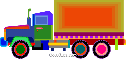 transport truck Royalty Free Vector Clip Art illustration vc009769