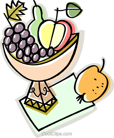bowl of fruit Royalty Free Vector Clip Art illustration vc009880