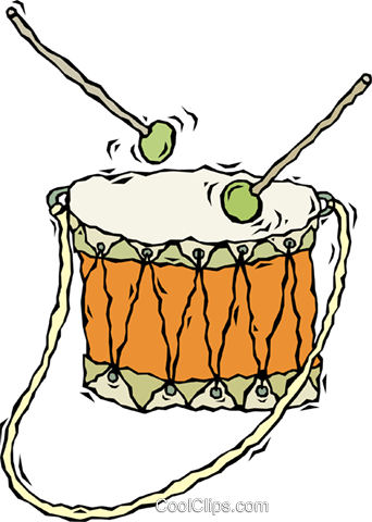 drum Royalty Free Vector Clip Art illustration vc009887