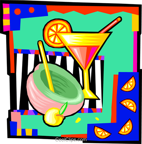 cocktails Royalty Free Vector Clip Art illustration vc009917