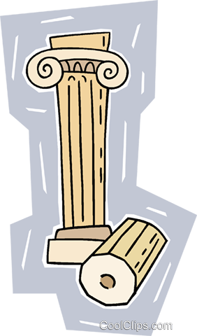 ancient column Royalty Free Vector Clip Art illustration vc009948