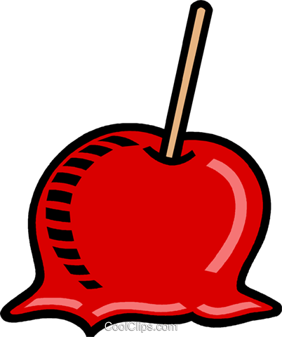 Candy apple Royalty Free Vector Clip Art illustration vc009977