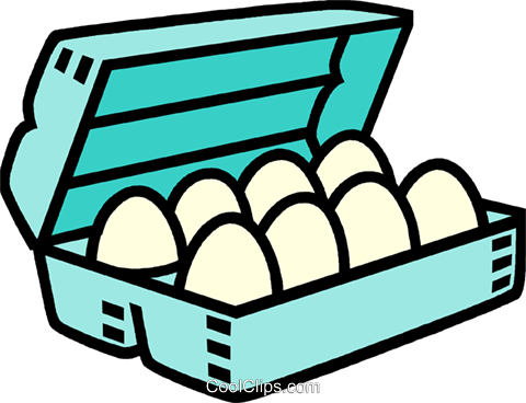 carton of eggs Royalty Free Vector Clip Art illustration vc009979