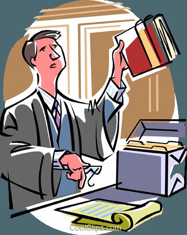 律师 免版税矢量剪贴画插图