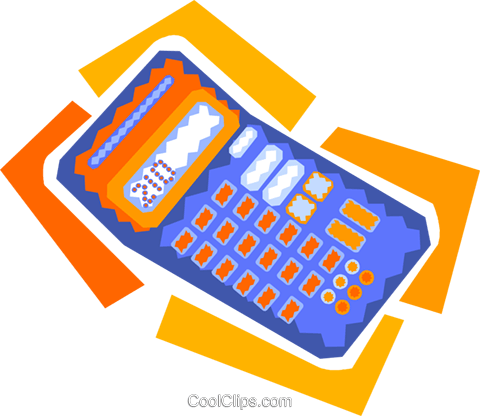 calculator Royalty Free Vector Clip Art illustration vc010020