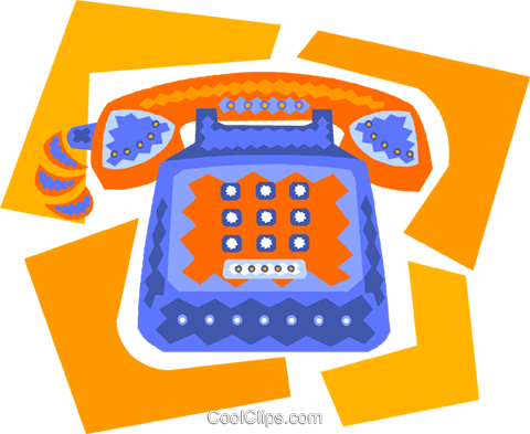 telephone Royalty Free Vector Clip Art illustration vc010022