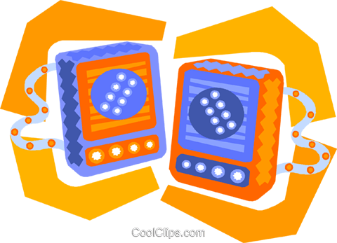 stereo speakers Royalty Free Vector Clip Art illustration vc010024
