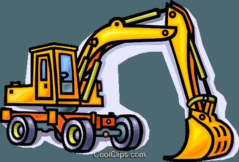 construction equipment shovel royalty free vector clip art rh search coolclips com construction equipment clipart images construction equipment clipart free