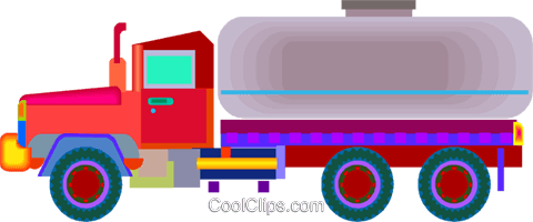 transport truck Royalty Free Vector Clip Art illustration vc010058